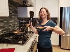 Making Breakfast! (petite guerrière rouge) Tags: cookingathome food cooking shakshuka breakfast