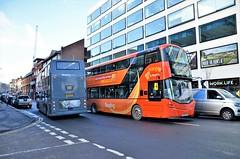 Passing by..... (stavioni) Tags: orange 906 sk66hsa wright wrightbus streetdeck generic 537 wa04csx alexander dennis trident double decker reading buses bus berkshire
