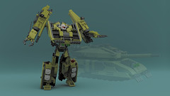 Brawl (Garry_rocks) Tags: lego mecha transformers tank vehicle robot