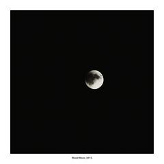 Blood Moon, 2015. (Paul Turgeon) Tags: paulturgeon photography landscape longexposure minimalism monochrome blackandwhite moon lakeerie canada windsor