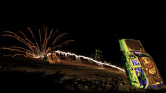 024693764012-106-Super Car Wars-1 (Jim There's things half in shadow and in light) Tags: 2018 america milkyway mojavedesert nevada night september southwest usa carforestofthelastchurch fireworks goldfield lightpainting