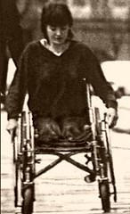 DAK on Wheels (jackcast2015) Tags: amputee legamputee wheelchairwoman wheelchair disabledwoman crippledwoman amputeewoman nolegs doubleabovekneeamputee dakamputee