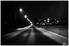 Untitled 00.83 (ViTaRu) Tags: olympus pen m43 microfourthirds mzuiko fujinon25mmf14 cctv manual lomo lomography street night nighttime nightlights nightshot streetlamps shadows contrast noir car driving winter blur lofi jaanintie varsinaissuomi turku finland cmount epl6 bw monochrome blackandwhite