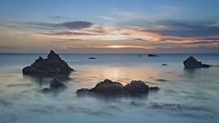 Ngawi sunset (dave.fergy) Tags: beach coast summer sunset long exposure rocks calm