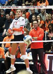 Quade for the kill (RPahre) Tags: universityofillinois illinois volleyball huffhall huff champaign kill swing jacquelinequade christamas