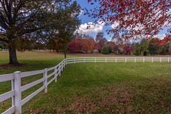(kderricotte) Tags: hff fence maryland sony sonya7iii 1018mm wideangle ilce7m3 sel1018 fall leaves autumn grass tree sky park