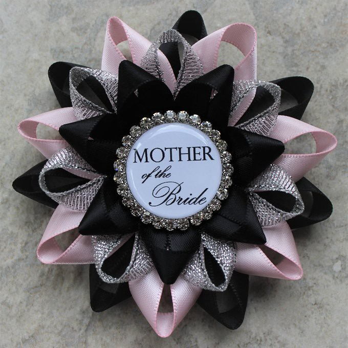 bridal shower decorations pink and black bridal shower corsage pins mother of the bride