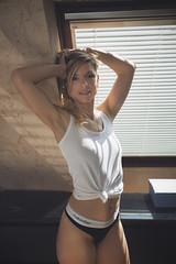 Angélique (www.michelconrad.fr) Tags: jaune rouge bleu vert canon eos6d eos 6d ef24105mmf4lisusm 24105mm 24105 femme modele portrait studio noir pose glamour lingerie
