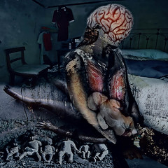 Too late now. Surrealism. (Nellie Vin) Tags: vaccination deaths children adults pregnant measles rubella unicef who cdc americanredcross unitednationsfoundation pneumonia brainswelling room single woman bed deadchild prevent nellievinphotography surrealism color