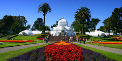 Conservatory Of Flowers, San Francisco (travel_expert) Tags: america architecture beauty botanical building california conservatory exotic flora floral flowers francisco garden gate glasshouse golden green greenhouse grow growing horticulture house icon landmark leisure outdoors palm park plants preserve protect public recreation san sky species spring tourism travel us usa