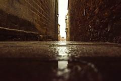 The rain in Spain... (Sonia gsgs) Tags: caceres spain stormy rainy rain pov dof nikon nikonphotography d3300 tokina streets urban urbanstyle urbanshots cityshots oldcity stones alley puddle perspective