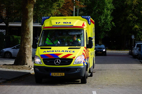 c72b39b044 Dutch Ambulance underway to an emergency call in Rotterdam