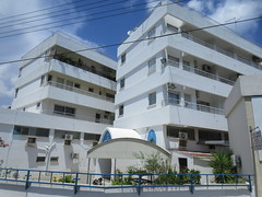 Religious affiliated apartments? Larnaca, Cyrpus (Paul McClure DC) Tags: larnaca larnaka cyprus mediterranean may2018 architecture modern