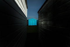 about the blues (ChrisRSouthland (mostly off, traveling & working)) Tags: camera england nikond800 zeissdistagon21mmf28 color colour beachhut blue