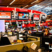 CBC Food Bank Day Tabulation and CNN on Newsroom Screens