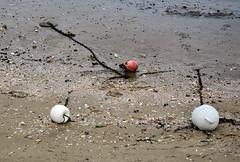 Blanc, blanc, rouge (balese13) Tags: 1855mm arcachon d5000 gironde bassin bouée chaine nikon plage nikonpassion 510fav maréebasse 1025fav 2550fav beach sable sand design