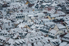 Photographic Cubism? (freyavev) Tags: heidelberg snow winter december winterwonderland badenwürttemberg germany deutschland telelens roofs snowy white cubism urban town oldtown mikasniftyfifty vsco canon canon700d