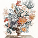 Stone vase with flowers (1688-1698) by Johan Teyler (1648-1709). Original from The Rijksmuseum. Digitally enhanced by rawpixel.