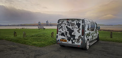 Changing Skylines (David C Laurie) Tags: camouflage vauxhallvivaro van clyde fairlie ayrshire transport bugoutbus