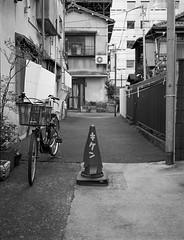 Danger (RunnyInHongKong) Tags: silverfast mediumformat opticfilm120 minatoku japan selfdevelop blackwhite kodaktmax400 tokyo kodaktmaxdeveloper film 6x45