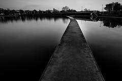 the dark path... (Jess Feldon) Tags: le dark atmosphere moody longexposure lookslikefilm clevedon boatinglake jessfeldon blackandwhite monochrome water lake path bigstopper somerset