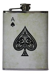 Ace of Spades Stainless Steel Liquor Flask (mywowstuff) Tags: gifts gadgets cool family friends funny shopping men women kids home