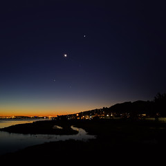 Happy New Year! (fksr) Tags: dawn night morning sky stars moon planets venus jupiter sausalito marincounty california antares