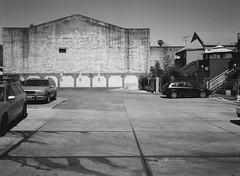 San Jose (bior) Tags: fujifilmga645zi ga645zi 6x45cm ilfordfilm ilford delta100 ilforddelta sanjose mediumformat 120 thealameda parkinglot wall concrete