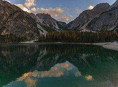 Sunset. Lago di Braies (Mountain's photographer) Tags: 2018 alps braies dolomites italy landscape outdoor