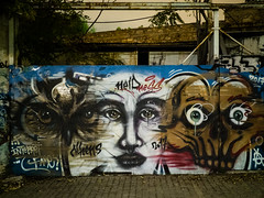 with different eyes (Al Fed) Tags: 20181111 athen athens greece graffiti eyes wall night
