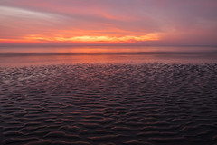 fire and water beyond the ripples of sand (Pieter G.) Tags: ambleteuse nordpasdecalaispicardie france fr