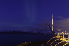 Out like a lamb (aerojad) Tags: eos canon 80d dslr 2018 landscape vacation travel wanderlust iceland2018 iceland october autumn reykjavik reykjavík night nightphotography nightscape nightsky bluehour clouds atlanticocean ocean kollafjörðurbay sunvoyager auroraborealis auroras aurora longexposure