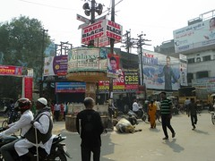 Varanasi 258 - Godowlia Crossing (juggadery) Tags: 2015 india varanasi benares banaras kashi cityoflight urban transport people animal