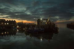 cold harbour (stocks photography.) Tags: michaelmarsh whitstable sunset harbour seaside coast landscape seascape dusk fish fishing boats trawler coldharbour lowlightphotography