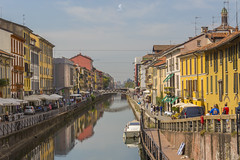 Naviglio Grande (Eugenio_81) Tags: navigliogrande eugeniosollima milano milan naviglio rflessi reflection landmark lombardy edificio windows people gente street urban europa europe fiume river canale sollima architecture architettura italy italia riflesso riflessi colorful colori colors naviligrand ponte pontediviacorsico bridge pontdeviacòrsich yellow giallo summer estate milàn ngc city città acqua water perspective canal santamariadellegraziealnaviglio reflections allaperto case casa house houses colore colour