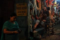 Kumortuli, Kolkata (dr.subhadeep mondal's photography) Tags: streetphotography street urban life kumortuli kolkata canon color india potter artisan durgapuja festival durga woman devi subhadeepmondalphotography night