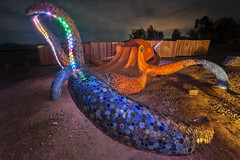 Octopuses Garden (magnetic_red) Tags: octopus sculpture night lightpainting artwork large magicalnipton