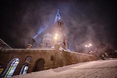 IMGP8914-Edit (jarle.kvam) Tags: snow city blizzard norway trinitychurch snowstorm arendal snø vinter norge trefoldighetskirke