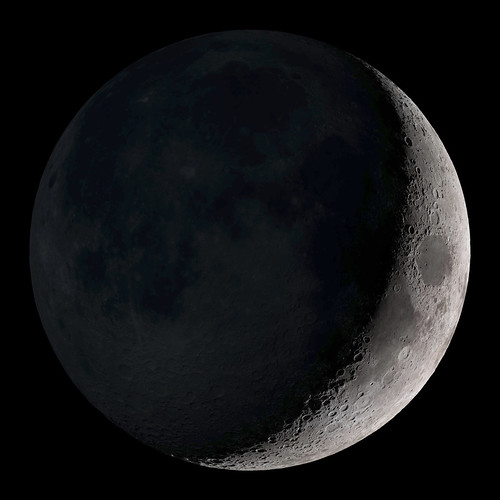 Waxing Crescent. Original from NASA. Digitally enhanced by rawpixel.