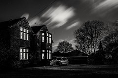 Winter's night, clouds flying by (HonleyA) Tags: ricohgr winter huddersfield westyorkshire mono blackandwhite house sky stars nightphotography gr2