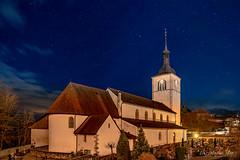 Eglise de Gruyères (Switzerland) (christian.rey) Tags: gruyère église fribourg nuit nigth nacht sony a7r2 a7rii 24105