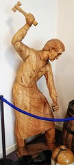 Wooden sculpture of a cooper (Will S.) Tags: wooden sculpture cooper barrelmaking mypics kirkwall airport orkney scotland unitedkingdom limewood lime wood linden
