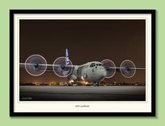 Ready to taxi (Nimbus20) Tags: hercules taxi bird aircraft prop propeller night blur northolt framed raf