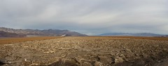 1150 Panorama shot looking north over the salty crust on the floor of Death Valley from the West Side Road (_JFR_) Tags: camping hiking deathvalley deathvalleynationalpark westsideroad salt