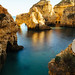 Lagoon with rorck formations near Lagos, Portugal