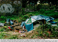 Wasteland Homeless 1 (hoffman) Tags: bender depression deprived dirty fence homelessness horizontal lonely matress mattress misery mud outcast outdoors plastic poverty rubbish sleepingbag tent trees wasteland 181112patchingsetforimagerights davidhoffman wwwhoffmanphotoscom london uk