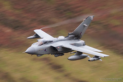Tornado GR4 Low Level in Wales (Peter Starling) Tags: machloop machynlleth peterstarling wales flying level low valley 086 zd720 tonka bwlch motion blur gr4 marham