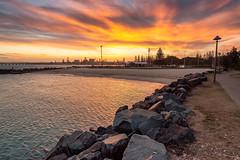Tuncurry Rock Pool (dean.white) Tags: australia au newsouthwales nsw greatlakes greatlakesnsw tuncurry beach coast myallcoast breakwall oceanpool baths tuncurryrockpool sunset canoneos6d canonef1635mmf4lisusm