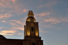 The Lighted tower (rhrown) Tags: tower structur bulding lights floodlights sky clouds whiteclouds southwesternbaptisttheologicalseminary fortworth texas