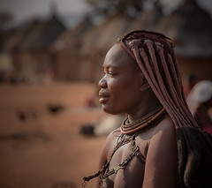 Himba village street photography (Kevin Rheese) Tags: africa nomad headdress portrait person namibia woman himba streetphotography tribe indigenous village hairstyle culture kuneneregion na